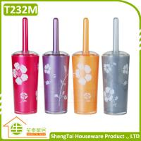 Buy cheap Fashion Rose Pattern Printing Toilet Flush Brush With Holder from wholesalers