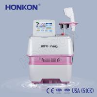 Buy cheap Portable Beauty Salon Use Wrinkle Removal HIFU Face Lifting Machine 0.1-2.2J/cm2 from wholesalers