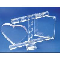 Buy cheap High Plastic Insulated Acrylic Photo Frames With Magnet , Heart Shape product