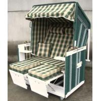 Buy cheap Modern White And Green Roofed Wicker Beach Chair & Strandkorb For Outdoor from wholesalers