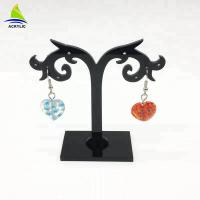 Buy cheap Elegant Acrylic Jewelry Display Black Tree Acrylic Earring Display Stand Holder Rack product
