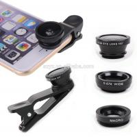 Buy cheap 3 In 1 Mobile Phone Camera Lens ,12X Telescope Lens For Iphone Samsung Tablet PC product