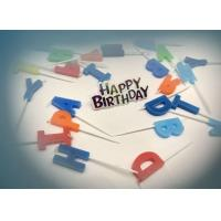 Buy cheap Letter Shape Birthday Party Cake Candles With 5 Random Colors SGS & ISO9001 from wholesalers