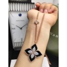 Buy cheap Roberto Coin 18K VENETIAN PRINCESS MEDIUM FLOWER BLACK JADE & DIAMOND NECKLACE from wholesalers