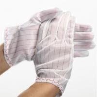 Buy cheap 100% polyester fabric ESD Stripped Glove from wholesalers