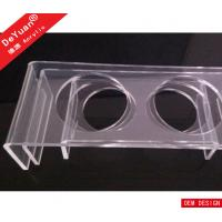 Buy cheap Durable Clear Bending Acrylic Pet Dining Table Tray For Cat Dog from wholesalers