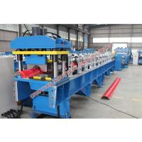 Buy cheap Corrugated Colored / Plained Aluminium Ridge Cap Roll Forming Machine with Automatic Rolling Equipment from wholesalers
