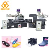 Buy cheap Fully Automatic 1/2 Color PVC Shoes Making Machine 110-150 Pair Per Hour / 6 Tons from wholesalers
