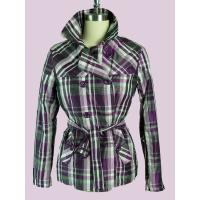 Buy cheap Plaid Windproof Double Breasted Overcoat / Jackets For Female product