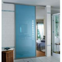 Buy cheap Blue Tempered Glass Door , Tempered Glass Toilet Door No holes from wholesalers