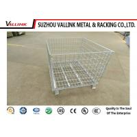 Buy cheap Collapsible Cold Rolled Steel Wire Mesh Container / Metal Cages For Storage from wholesalers
