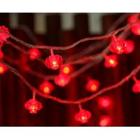 China 10/20/40/80LED Chinese Red Lanterns Solar String Lights Outdoor Lighting Festival Party Home Illumination on sale
