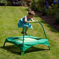 Buy cheap Safe small green trampoline for kids Garden outdoor playing , 89x89 cms Base area product