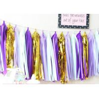 Buy cheap Hand made Color full  Tissue Tassel Garland Fringe Garland For Party Decorations from wholesalers