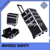 Buy cheap Black pvc surface 4 in 1 beauty trolley case from wholesalers