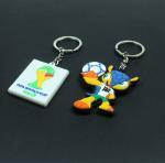 Buy cheap 2014 Brazil the world cup emblem mascot souvenir emblem ornament armadillo plastic key chain key ring from wholesalers