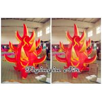 Buy cheap Customized 2m Height Red Inflatable Fire for Stage Decoration product