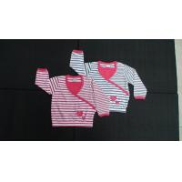 Buy cheap Custom Made Boutique Childrens Clothing Long Sleeve Stripe Girls Shirt from wholesalers