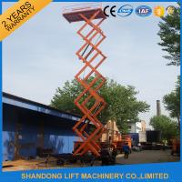 China 12m 500kg Mobile Scissor Lift Tables with Electric Hydraulic Motor Lift Drive on sale