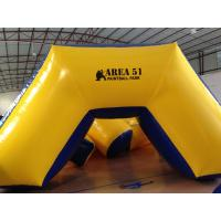 Buy cheap Outdoor Games Inflatable Paintball Bunkers 0.9mm Pvc Tarpaulin 5 X 2.5 X 1.25m from wholesalers