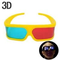 Buy cheap Cute girl's yellow frame Anaglyphic 3D Glasses ,red cyan refraction depth lenses glasses from wholesalers