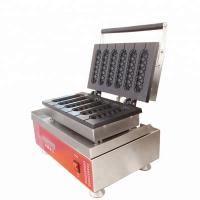 Buy cheap Commercial Waffle Maker electric snack muffin waffle hot dog baker machine lolly Hot Dog Stuffed Waffle from wholesalers