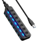 Buy cheap 7 Port Micro Usb Charging Cable HUB Every Port With Both Sharing Switch / LED from wholesalers