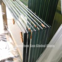 Buy cheap tempered laminated safety glass pvb sgp eva film metal mesh clear price sheets fabric flooring door greenhouse from wholesalers