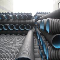 Buy cheap High quality and cheap DN110mm black HDPE Corrugated water Pipe from wholesalers