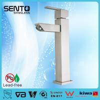 Buy cheap Hot sales new standerd stainless steel water mixer square basin faucet from wholesalers