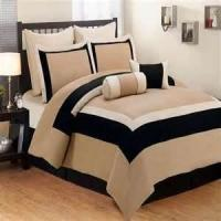 Buy cheap Classic look strip design Queen Size 100 % Cotton Fabric Microfiber hotel collection comforter set from wholesalers