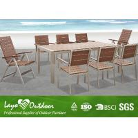 Buy cheap Artificial Wood Decking Fake / Faux Wood Patio Furniture Recycled Wood Outdoor Furniture from wholesalers