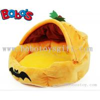 Buy cheap Specially Design Plush Stuffed Pumpkin With Bats Pet Bed As Hallowmas Gift for dog cat from wholesalers