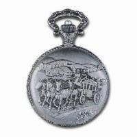 Buy cheap Alloy Pocket Watch with Plating and Quartz Movement, Water Resistant and CE/RoHS Can be Compliant from wholesalers