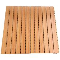 Quality Sound Absorption Grooved Acoustic Panel Conference Room Wooden Wall Panels for sale