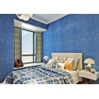 Buy cheap Deep Blue Children'S Room Wallpaper , Star Bedroom Wallpaper For Kids from wholesalers