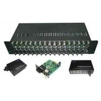 Buy cheap 10 / 100 / 1000Mbps Ethernet Optical Fiber Media Converters Rack, 16 Slots With Dual Power from wholesalers
