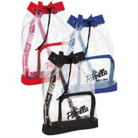 Buy cheap Small Clear Plastic Drawstring Backpack , Printed Drawstring Bags For Promotional Gifts from wholesalers