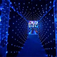Buy cheap LED Star Curtain white blue green red wedding backdrop ,led star cloth party stage backdrop concert stage decoration from wholesalers