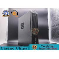 Buy cheap Black Metal Baccarat Gambling Systems Mini Desktop Computer Host With Chassis Plus Power Supply Set from wholesalers