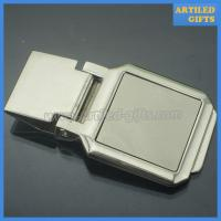 Buy cheap High quality blank silver money clip as business promotion gifts from wholesalers