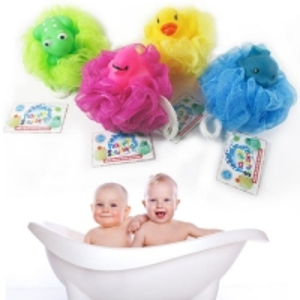 Buy cheap Bath Shower Bath Sponge Shower Loofahs Balls 60g/PCS for Body Wash Bathroom Men Women- Set of 4 Flower Color product