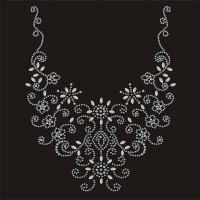Buy cheap Silver Neckline Hotfix Nailhead Clear Iron On Rhinestone Transfers For Clothes from wholesalers