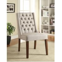 Buy cheap Solid Wood Legs Upholstered Dining Chairs , High Back Dining Room Chairs from wholesalers