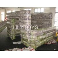 Buy cheap children Giant inflatable buildings wall bunkers For inflatable paintball arena from wholesalers