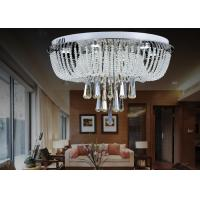 Buy cheap White Modern Luxury Crystal Ceiling Lights / Glass Ceiling Lighting Fixtures Chandeliers from wholesalers