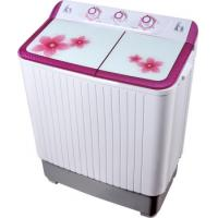 China Colorful Twin Tub Semi Automatic Washing Machine 7kg  With Plastic Body Tempered Glass on sale