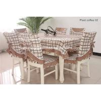 Buy cheap Plaid table linens: table cloth and chair cover set, plaid cotton tablecloths supply, from wholesalers