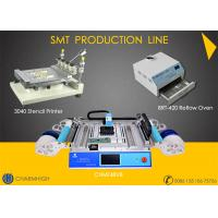 Buy cheap SMT Production Line Stencil Printer 3040 / CHMT48VB SMT P&P Machine / Reflow Oven BRT-420 from wholesalers