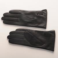 Buy cheap High quality women fashion leather gloves with real sheepskin leather gloves from wholesalers